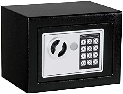 0.236 Cubic Feet Safe and Lock Box Digital Electronic Security Keypad Mini Small Safes with Induction Light Grey Safe Box for Home Office Travel Business Use