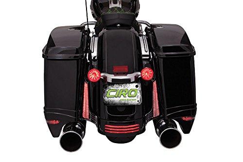Saddlebag Filler Panel Lights (black) for Harley Davidson Street Glide/Road Glide '06-'09 Street Glide - Panel Black Filler