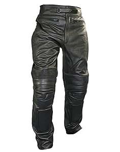 Xelement B7466 Mens Black Armored Cowhide Leather Racing Pants - 36