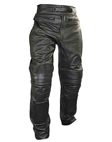 - Xelement B7466 Mens Black Armored Cowhide Leather Racing Pants - 42