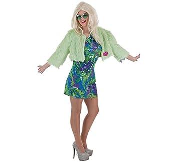 Creaciones Llopis Disfraz de Hippie Sexy Flower para Mujer: Amazon ...
