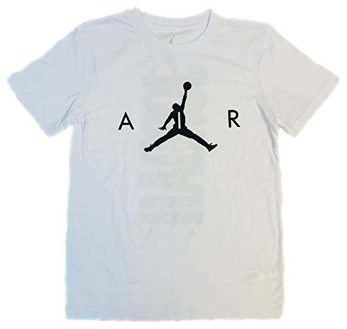 Nike Air Jordan 8-20 Boys' Youth Crew Neck Tee (White, Medium)