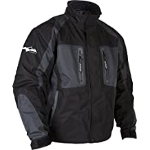 HMK Stealth Jacket, Black/Grey, Size: Sm, Size Modifier: 34-36in, Apparel Material: Textile HM7JSTEBGS