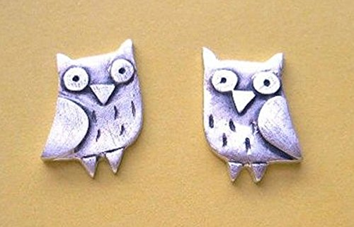 Origami OWL Earrings Birds of Prey Studs Silver Plated Nickel Lead Free with Gift Bag (Owl Earrings Origami)