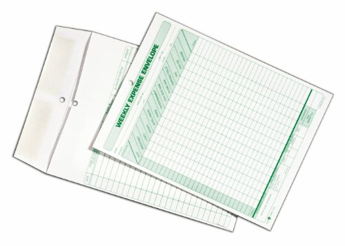 TOPS Weekly Expense Envelope, 8-1/2 X 11, 20 Envelopes Per Pack (1242) by Tops (Image #3)