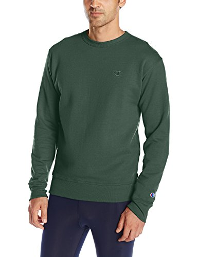 Champion Men's Powerblend Pullover Sweatshirt, Dark Green, Small