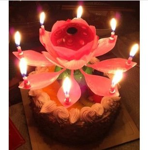 Liroyal The Amazing Happy Birthday Music Candle Novelty Blooming