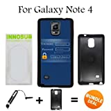 Admin Login Custom Galaxy Note 4 Cases-Black-Plastic,Bundle 2in1 Comes with Custom Case/Universal Stylus Pen by innosub