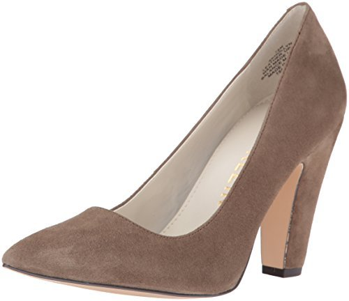 Anne Klein Women's Hollyn Suede Dress Pump, Taupe, 6 M US