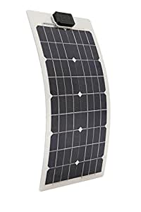 ECO-WORTHY 20W Monocrystalline Semi-flexible Solar Panel for Yacht Boat RV A Grade Solar Cell Highly Efficient