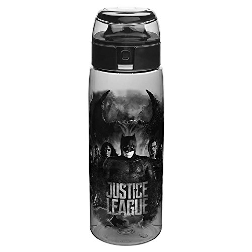 - Zak Designs JLMA-K951 DC Comics Justice League Movie Water Bottle with Loop BPA-Free 25 Ounces