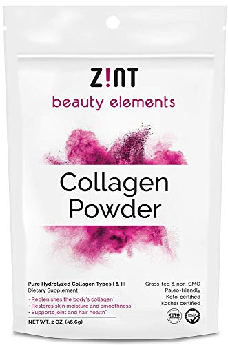 Zint Collagen Peptides Powder (5 Servings): Paleo-Friendly, Keto-Certified Anti-Aging Beauty Collagen Protein Hydrolysate - Grass-Fed, Non-GMO