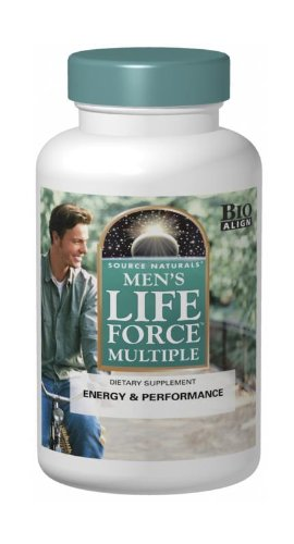 Multivitamin 180 Tabs Naturally Vitamins (Source Naturals Men's Life Force Multiple, 180 Tablets)