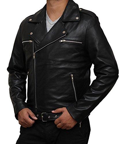 The Walking Dead Season 7 Outerwear Black Negan Leather Jacket Apparel M