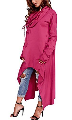 Sprifloral Womens High Low Shirt Tunic Sweatshirts Dress Hoodie with Pocket Peuple