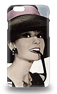 New Snap On Iphone Skin 3D PC Case Cover Compatible With Iphone 6 American Audrey Hepburn Audrey Hepburn Breakfast At Tiffany S Comedy ( Custom Picture iPhone 6, iPhone 6 PLUS, iPhone 5, iPhone 5S, iPhone 5C, iPhone 4, iPhone 4S,Galaxy S6,Galaxy S5,Galaxy S4,Galaxy S3,Note 3,iPad Mini-Mini 2,iPad Air )