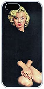 Marilyn Monroe Theme Case for IPhone 5 5S PC Material White