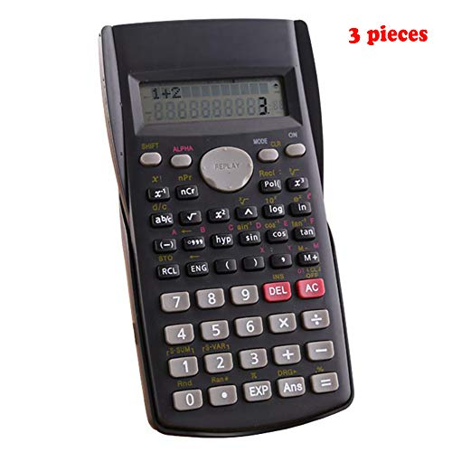 YHML Home Office Calculator Engineering Calculator Scientific Calculator, 12-Bit Large-Screen LCD Monitor, Daily and Basic Office Handheld Devices, 3 Pieces