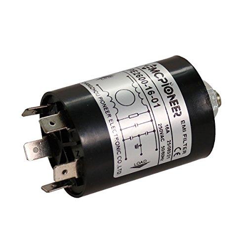16a Alternator (EMCPIONEER Cylindrical power line Household equipment appliance EMI filter,16A 120/250V PE2600-16-01)