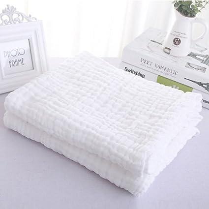 Kassy Pop Baby Muslin Cotton Bath Towel, Blanket, Swaddle (105 X 105 cm, White)