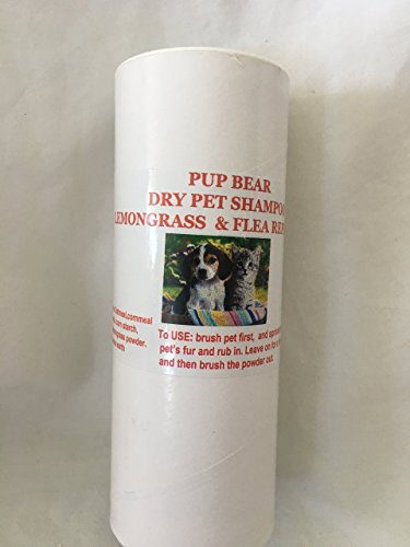 (ALL NATURAL LEMONGRASS DRY DOG AND CAT SHAMPOO AND FLEA REPELLANT - POWDER ON BRUSH OFF)