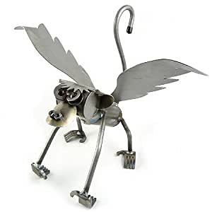 Flying Monkey - American Made Recycled Metal Garden Sculpture