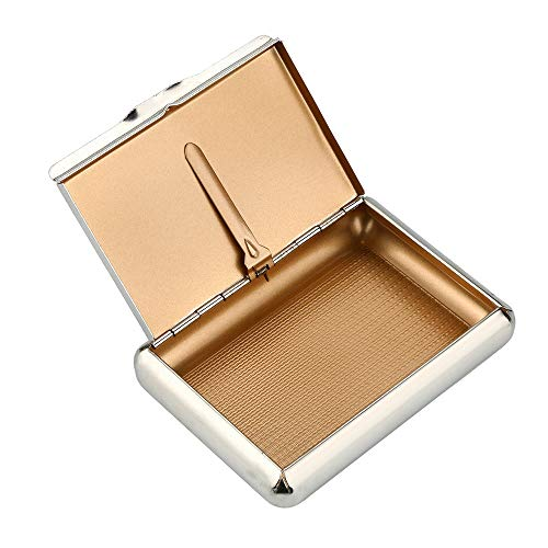 Euone  Tobacco Storage Box Clearance Sale , Pocket Size Metal Tobacco Box ( 95*70MM) Cigarettes Storage Case Tobacco Tin