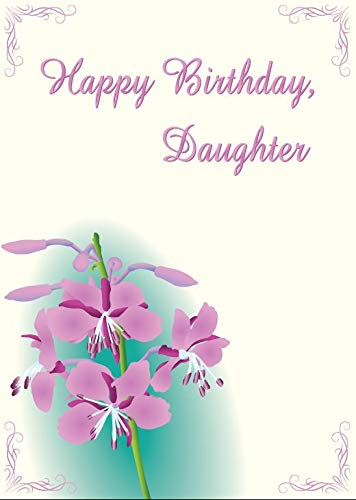 Image Unavailable Not Available For Color Personalized Fireweed Birthday Card Daughter From Both Parents