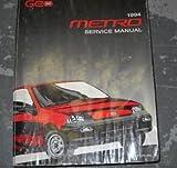 1994 Chevrolet Chevy Geo Metro Service Shop Manual