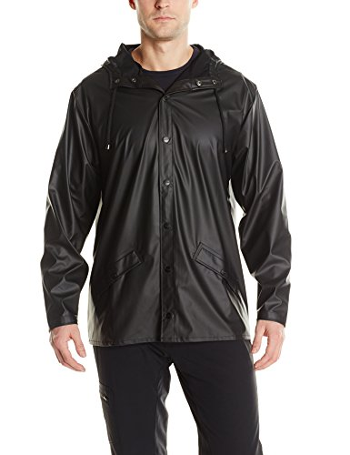 Rains Jacket Uomo Nero Impermeabile Waterproof ZrxwZRq