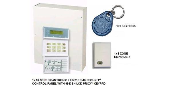 WA35 - SCANTRONIC 09751EN -43 16 ZONA CON ALARMA + TECLADO + ...