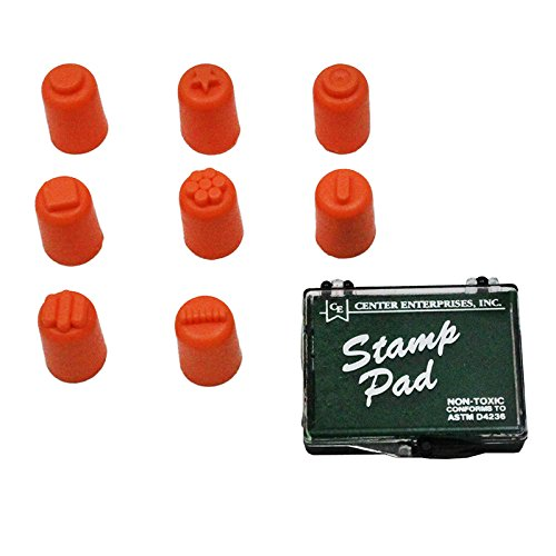Center Enterprise CE6653 READY2LEARN Finger Painters/Set of 8 with Stamp Pad