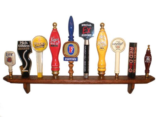 10 Place Wall Hanging Tap Handle Display, Red ()
