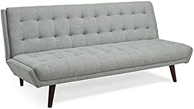 Lifestyle Solutions Relax A Lounger Lacey Tufted Sleeper Sofa in Gray