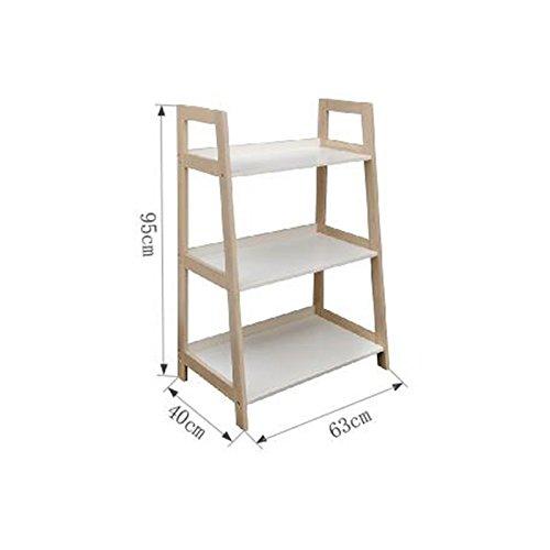 3層/ 4層/ 5層竹はしご本棚多機能収納ラックディスプレイスタンド B07RW2FDK8