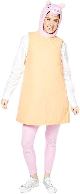 Fancy Me Disfraz de Peppa Pig para Mujer con diseño de Cerdito de ...