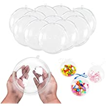 """5.5"""" Clear Big Plastic Acrylic Arts & Crafts Giant Mold Shells Molding Balls Crafting Kit (140mm, 12 Pack)"""
