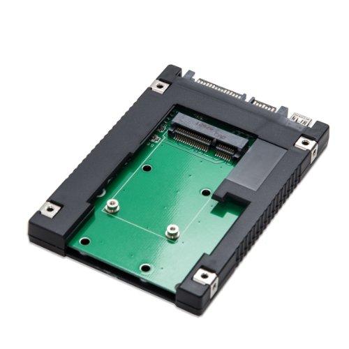 - SYBA 2.5-Inch SATA to mSATA SSD Adapter, Use as External USB 2.0 Storage Device (SD-ADA40077)