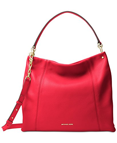 MICHAEL Michael Kors Lex Large Hobo (Bright Red) by Michael Kors