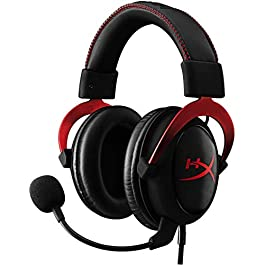 HyperX Cloud II – Gaming Headset, 7.1 Surround Sound, Memory Foam Ear Pads, Durable Aluminum Frame, Detachable Microphone, Works with PC, PS4, Xbox One – Red