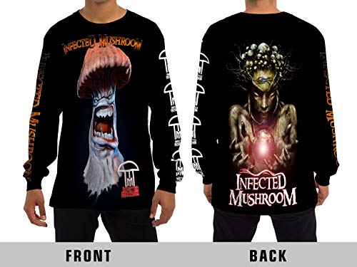 Demonic Infected Mushroom Trance Psychedelic All Over Sublimation Print Long Sleeve T-Shirt (Medium) (Best Of Infected Mushroom)