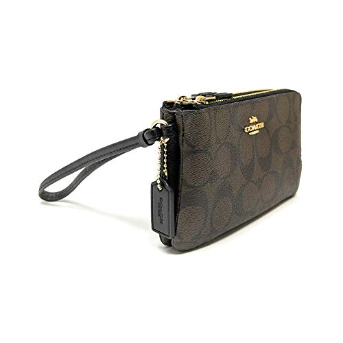 COACH Signature PVC Double Corner Zip 4