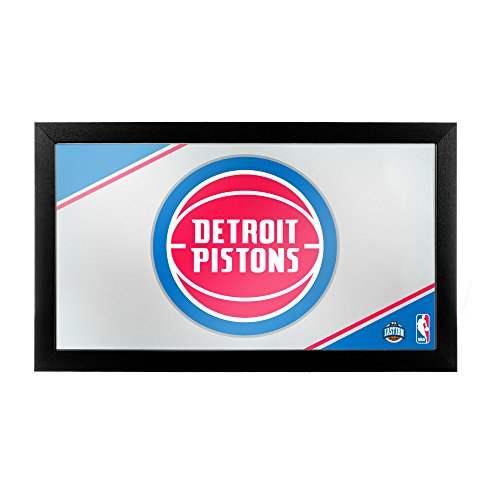 NBA Detroit Pistons Framed Logo Mirror by Trademark Gameroom