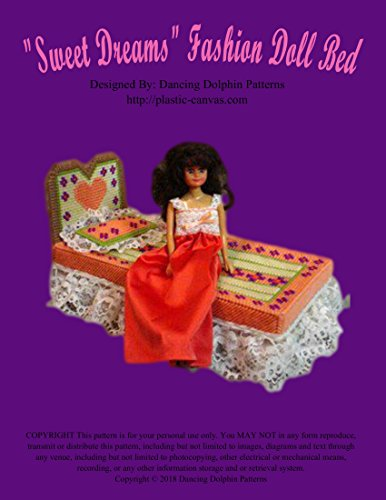 """""""Sweet Dreams"""" Fashion Doll Bed: Plastic Canvas Pattern"""