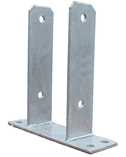 Pfostenträger zum Aufdübeln für Pfosten 12x12 cm feuerverzinkt T-Träger