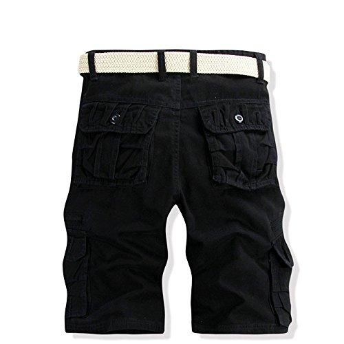 Kinlene Travail Plage Occasionnels Pour Pantalon Outdoor Poche Noir Shorts Hommes Sports Overalls Couleur Pure De Cargo x6pgq