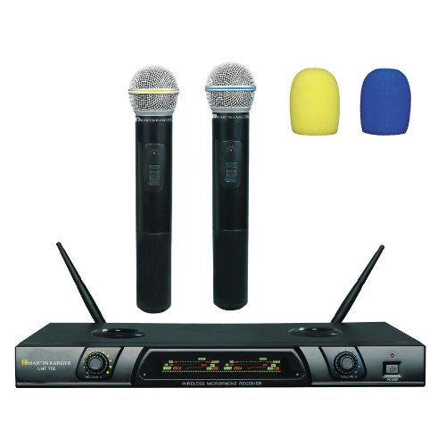700 Uhf Wireless Systems - Martin Ranger UHF-700 Dual Channel Plug-N-Recharge Wireless Microphone