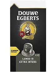 Douwe Egberts Koffiecups Lungo Extra Intens (100 Capsules, Geschikt voor Nespresso* Koffiemachines, Intensiteit 10/12, Dark Roast Koffie, UTZ Gecertificeerd), 10 x 10 Cups