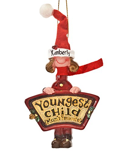 Personalized Mom's Favorite Youngest Child Ornament (Youngest Child)
