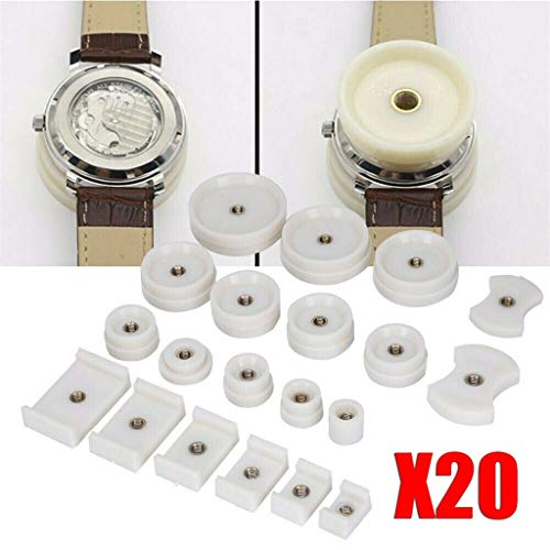 Euone Home, Watch Repair Tools Watch Press Back Case Closer Crystal Glass Fitting Dies Set